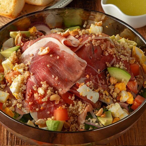 Power Salad<br /> <span>(Prosciutto/Galician Pork/Atlantic Salmon)</span>