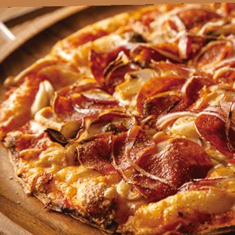 American Pepperoni<br /> <span>Pepperoni, Mushrooms, Red Onion, Shimeji, Mixed Cheese</span>